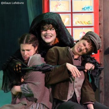 Knusperhexe in »Hänsel und Gretel« Landestheater Detmold (Foto: Klaus Lefebvre)